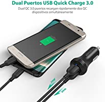 Cargador de Coche Carga Rápida 40W de RAVPower Dual Quick Charge ...