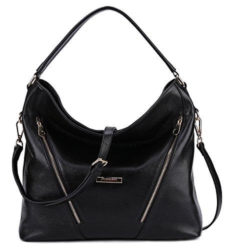 Black Bags AINIMOER Cross Top Tote BIG Purse Womens Leather handle Shoulder Body Handbags Bag Ladies SALE Vintage ZO5qgnOa