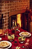 Food Journal Dinner Table Set Fireplace Background: (Notebook, Diary, Blank Book) (Food Journals Diet Notebooks Health Diaries)