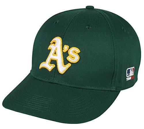 2013 Adult FLAT BRIM Oakland A's Athletics Road Green Hat Cap MLB - Hat Adjustable Road
