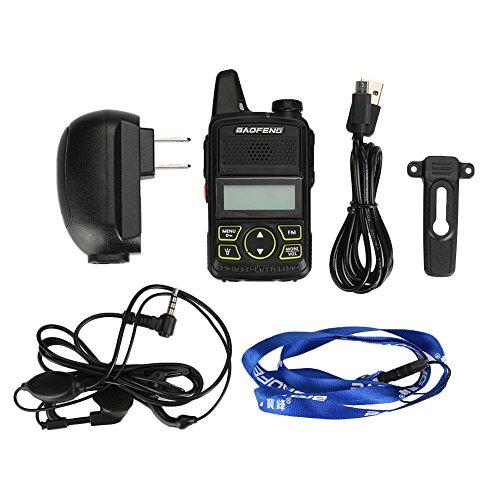Hanbaili (US Plug) Black Walkie Talkies, Two-way Radio Interphone Travel Hunting Outdoor FM Transceiver Police For Hiking Camping Trolling by Hanbaili