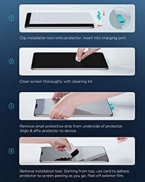 ESR (2-Pack) Paper-Feel Screen Protector for iPad Air 4 2020 /iPad Pro 11 2020 & 2018, [Supports Apple Pencil] [Write & Draw Like on Paper] Anti-Glare Matte PET Film for iPad Pro 11/10.9 Inch 2020 (Color: Transparent)
