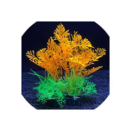 Joyfeel-light Simulation Artificial Plants Aquarium Decor Water Weeds Ornament Plant Fish Tank Aquarium Grass 14Cm Decoration,7,14Cm