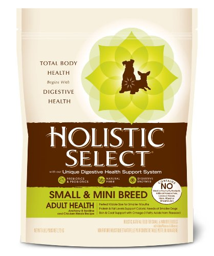 Holistic Select Natural Dry Small Breed Dog Food, Anchovy, Sardine & Chicken, 6-Pound Bag