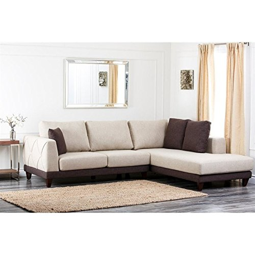 Abbyson Living Juliette Fabric Sectional Sofa