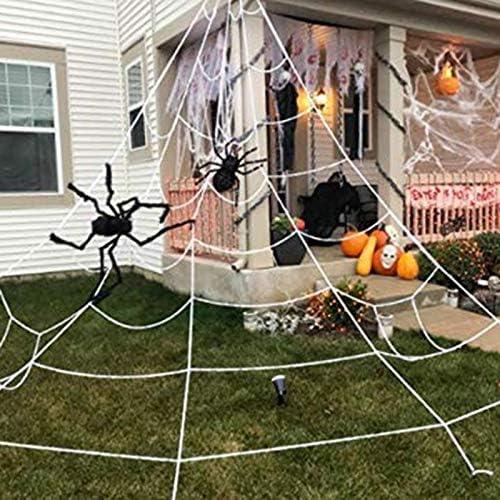 Rusisi 12 c/írculos trucos m/ágicos de Halloween telara/ña decorativa para Halloween horrible Prop Mago Halloween Horrific Magos Props suministros de telara/ña 5 metros