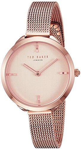Ted Baker Women's Elana Quartz Watch with Stainless-Steel Strap, Rose Gold, 10 (Model: TE15198010) (Gold Steel Baker)