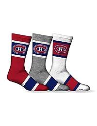 Men's NHL Montreal Canadiens 2016 3-Pack Sport Crew Socks