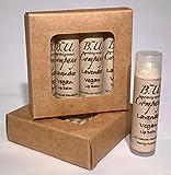 All Natural Vegan Lavender Lip Balm - All Natural Handmade - VEGAN - BU Company - 4 pack