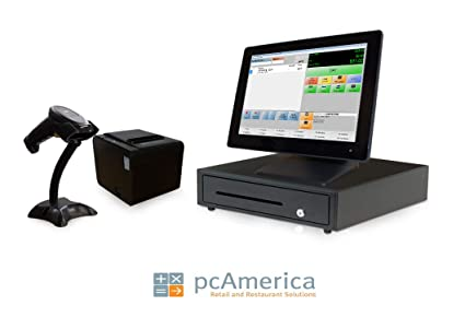 CRE and Credit Card Swipe Reader Receipt Printer 2 2 Includes Touchscreen PC POS Software 2 Cash Drawer 2 2 Scanner Retail Point of Sale System Two Stations 2