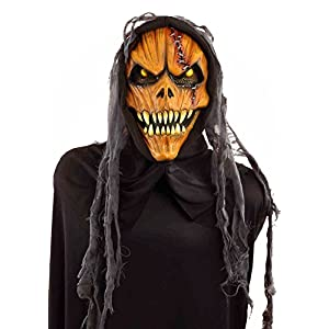 Forum Novelties Men's Hooded Pumpkin Monster Mask