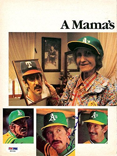 Billy Martin Autographed Signed Magazine Page Photo Oakland A's S00350 PSA/DNA Certified Autographed MLB Magazines
