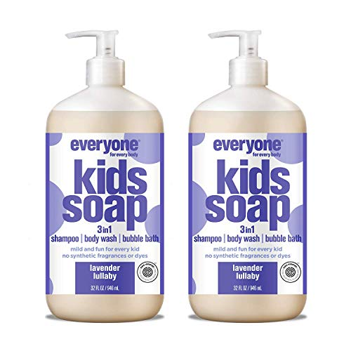 Everyone 3-in-1 Soap for Every Kid Safe, Gentle and Natural Shampoo, Body Wash, and Bubble Bath, Lavender Lullaby, 32 Fl Oz (Pack of 2) (Best Hair In The World Boy)