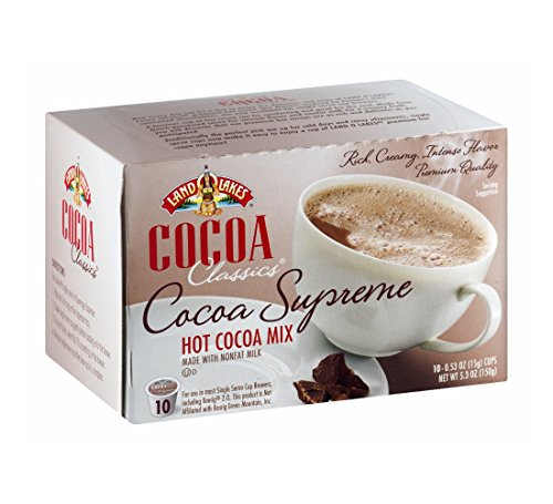 Land O Lakes Cocoa Supreme Hot Cocoa Mix K-Cups,10 Count - 5.3 oz (Pack of 2) ()