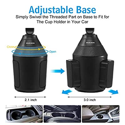 Car Cup Holder Phone Mount,Marchero 360°Rotation Adjustable Automobile Universal Smart Phone Cradle Compatible with iPhone 11/Xs/Max/X/XR/8 Plus /7 6 SE Samsung Galaxy S10/S9/ S8 Note 9 Nexus, and Etc