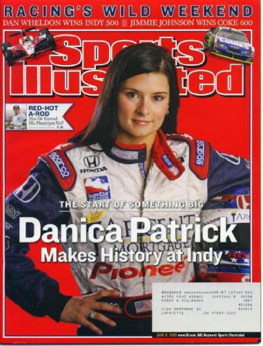 Sports Illustrated June 6 2005 Danica Patrick Cover, Indy 500, Nascar Coca-Cola 600, Alex Rodriguez (A-rod), Women's College Softball World Series, Shaquille O'Neal