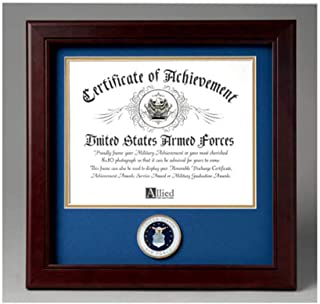 product image for flag connections United States Air Force Certificate of Achievement Frame with Medallion - 8 x 10 inch