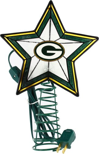 Green Bay Packers Art Glass Tree Topper