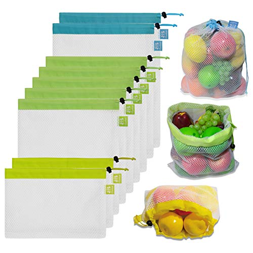 BB Brotrade Reusable Mesh Produce Bags Premium...