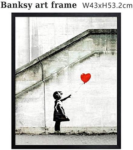 バンクシー アートフレーム (レッドバルーン) Banksy コピー ポスター 赤い風船 ストリートアート グラフィティ 絵 複製画 代表作 有名作品
