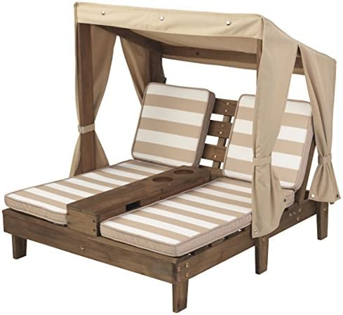 picture of KidKraft Double Chaise Lounge - Cup Holders, 36.5 x