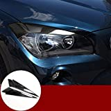Carbon Fiber Front Headlight Eye Lid Eyebrow Trim Cover 2pcs for BMW X1 E84 2010-2015