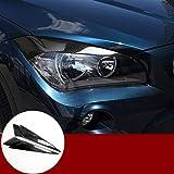 Carbon Fiber Headlight Eye Lid Eyebrow Trim Cover 2pcs for BMW X1 E84 2009-2015