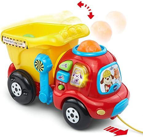 toys, games, baby, toddler toys,  push, pull toys 6 on sale VTech Drop & Go Dump Truck (Frustration Free Packaging promotion
