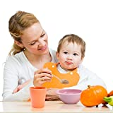 4pcs Bamboo Kids Cups for Baby feeding, Non Toxic & Safe Toddler cups for Drinking,Eco-Friendly Tableware for Baby Toddler Kids Bamboo Kids Dinnerware sets
