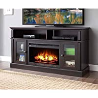 Whalen Barston Media Fireplace for TVs up to 70, Multiple Finishes (Espresso)