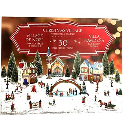 Christmas Village Animated with Lights and Music, 30 Pieces, Limited Edition - Amazon.com: Christmas Village Animated With Lights And Music, 30