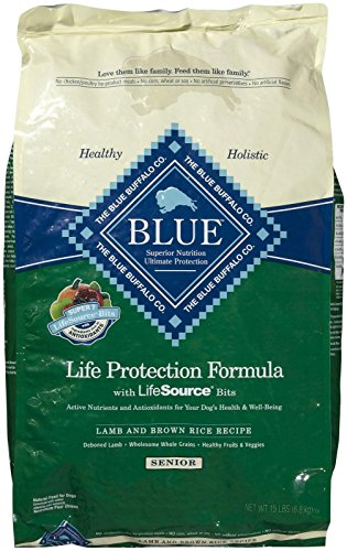 Blue Buffalo Blue Dog Senior Lamb Formula Food, 15 lb.