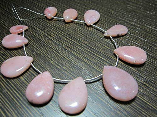 KALISA GEMS Beads Gemstone AAA-Peruvian Pink Opal Smooth Large Focal Pear Briolettes- 8