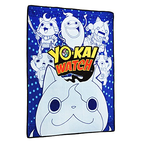 "Price comparison product image Yo-Kai Watch Multi-Character Print Micro Raschel Throw - 50"" x 60"""
