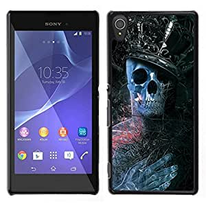 All Phone Most Case / Oferta Especial Duro Teléfono Inteligente PC Cáscara Funda Cubierta de proteccion Caso / Hard Case Sony Xperia T3 // King Skeleton