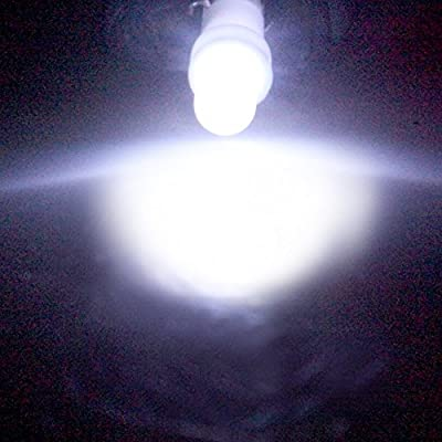 20 Pack T5 Wedge 1 LED Car Auto Dashboard Gauge Side Light Bulb Lamp 37 58 70 73 74 White 12V: Automotive