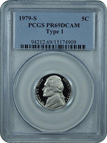 1979 S Jefferson Jefferson Type 1 Nickel DCAM PCGS PR-69