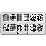 Nicole Diary Nail Art Black White Stripe Stamp Template Image Plate Pattern