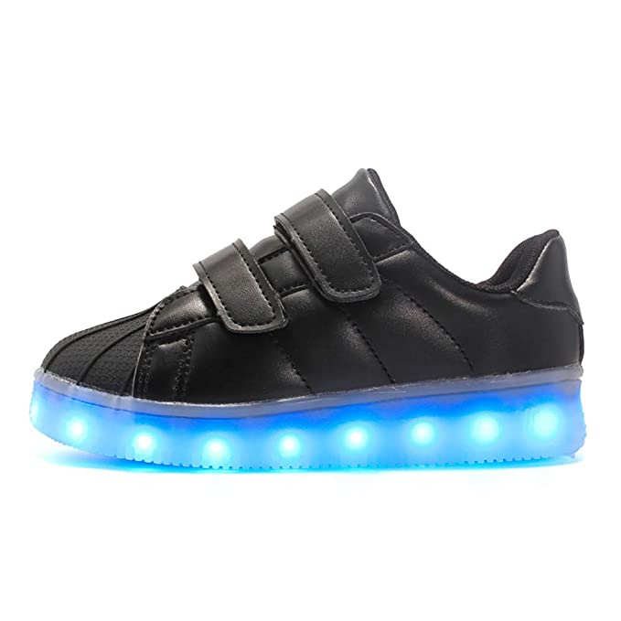 Luces LED para entrenadores Parpadeante Zapatos casuales Zapatillas deportivas a prueba de agua Luminoso Carga USB Low Top Zapatos deportivos: Amazon.es: ...