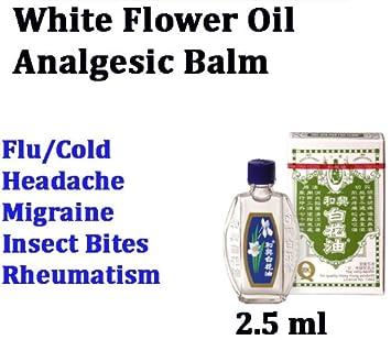 Amazon white flower oil balm analgesic pain ache cold flu white flower oil balm analgesic pain ache cold flu rheumatism relief massage mightylinksfo