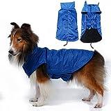 litymitzromq Pet Clothes for Dog Cat Puppy - Waterproof Big Pet Dog Fashion Waistcoat Jacket Fleece Lined Raincoat Clothes Pet Water Proof Clothes Lightweight Rain Jacket Poncho Hoodies