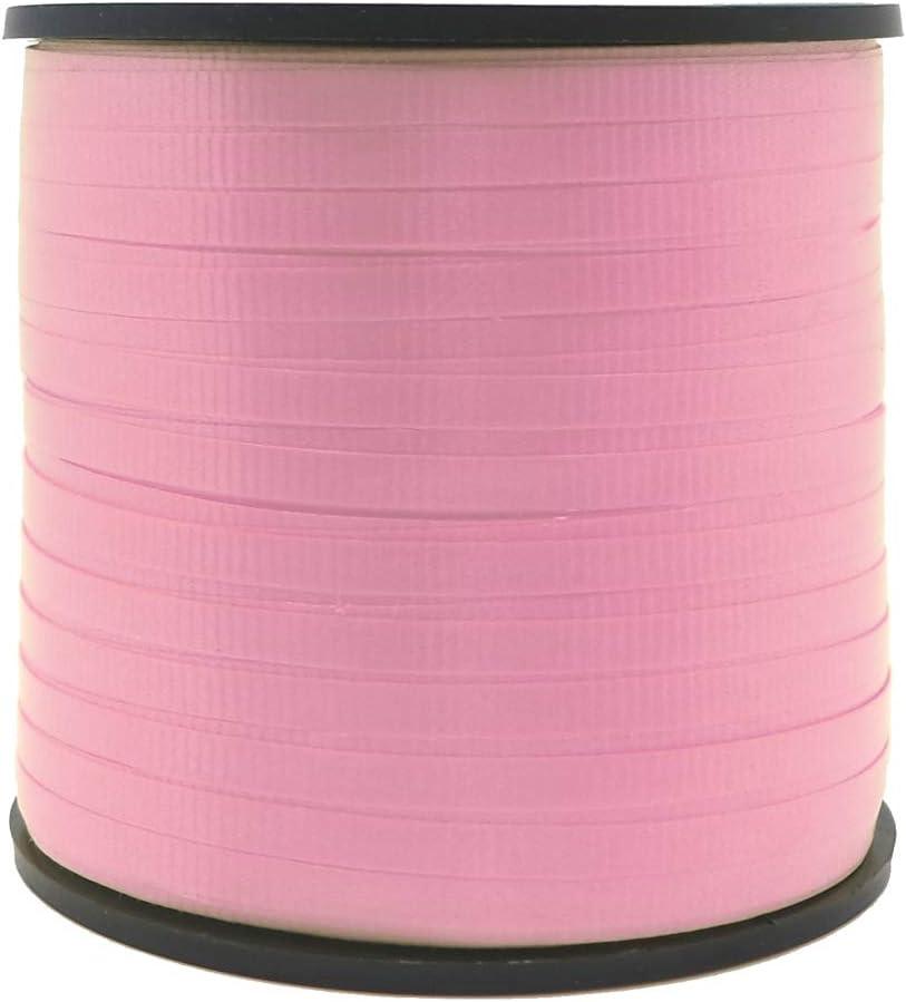 Unique Party Cinta de Regalo, Liso, Color Rosa Claro, 90 Meters (48622)