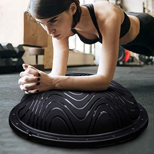 YJQ Hemisferio de Yoga, Bola de Yoga Equilibrio Bola Negra Pilates ...