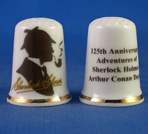Birchcroft Porcelain China Collectable Thimble -- Sherlock Holmes 125th Anniversary Birchcroft China