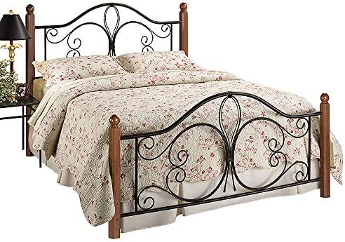 Hillsdale Furniture Hillsdale Milwaukee Post Queen Bed Textured Black