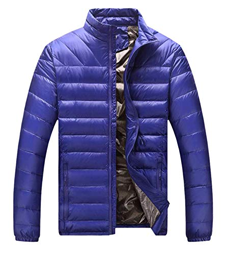 Mens Coat Screenes Mens Jacket Sleeve Outwear Outerwear Winter Down Sport Blau Jacket Long Down Down Turtleneck Jacket Jacket Spxw1pZt