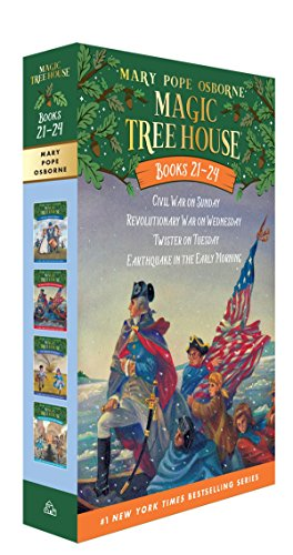 Magic Tree House Volumes 21-24 Boxed Set: American History Quartet (Magic Tree House (R)) (History Of The Christmas Tree For Kids)