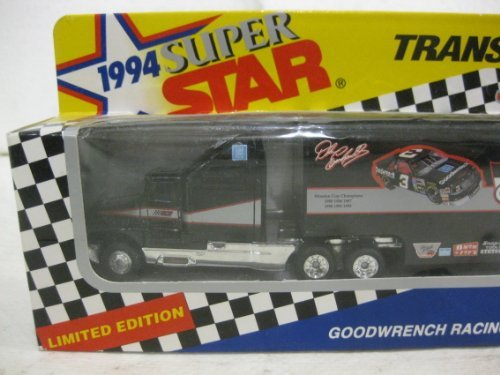 1994 Super Star Transporters Series II Dale Earnhardt #3 Goodwrench Racing In Black Diecast Scale Model By Matchbox - Antique Matchbox Cars