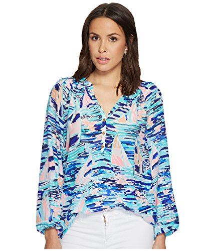 (Lilly Pulitzer Women's Elsa Top Multi Pier Pressure Large )