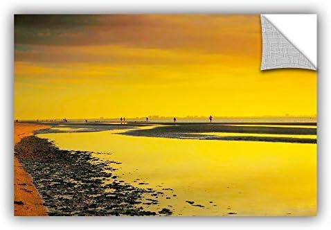 Artwall Kunstdruck auf Leinwand Steve Ainsworth 's Mellow Yellow Morning Art appeelz Abnehmbarer Graphic Art Wand 12x18